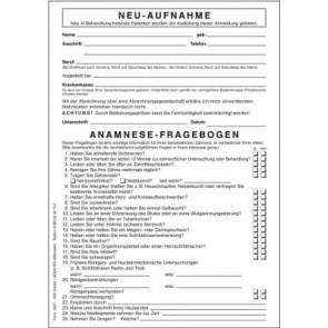 Anamnese Fragebogen 3027