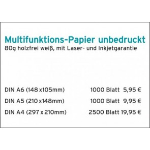 Kopierpapier 80g DIN A6
